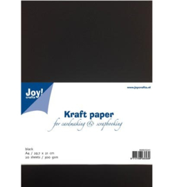 8089/0241 Kraft paper zwart A4