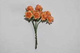 Bloemen koraal oranje 8
