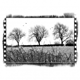Crafty Individuals CI-197 Three Winter Trees