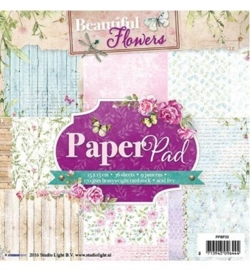 Studio Light - Paper Pad - Beautiful Flowers nr.33 PPBF33