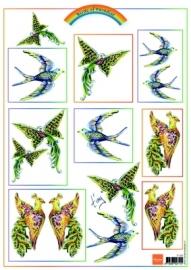 Marianne Design Birds Pink IT555