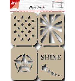 6002/0829 Mask Stencil Stars