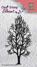 "Nellie Snellen SIL008 Silhouette Clear Stamps ""tree-2"" (5,3x9,5cm)"
