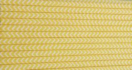 Rietjes 25 stuks  Zigzag geel