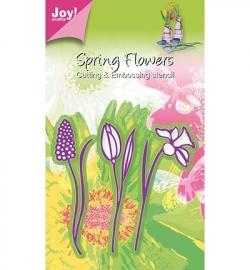 6002/0355 Stencil 3 bloemen, narcis/tulp/hyacint