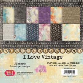 Craft & You Design paperpack- I love vintage 6x6
