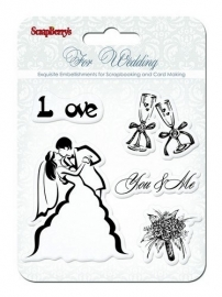 ScrapBerry's clearstempelset-For Wedding/You & Me