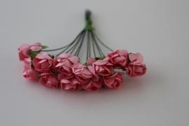 71093-146 Mini roosjes 12st roze