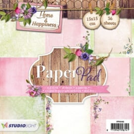 Studio Light Paper pad 36 vel 12 designs Home & Happiness nr 40 PPHH40 15x15cm
