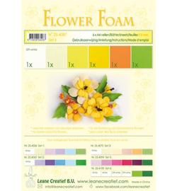 Leane Creatief flower foam 254087 - Set 4 Yellow Colours
