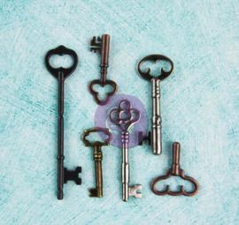 Prima Marketing -  Metal Embellishments - Vintage Keys - 892234