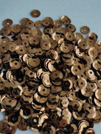 Pailletten 6mm metaal bruin 201901015