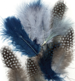 Veren natuur blauw 12229-2907 - Ass.Mix,Ocean