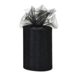Tule 15 cm breed zwart