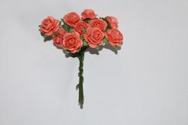 Bloemen koraal oranje 4