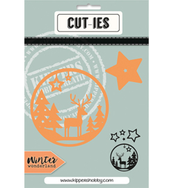 CUT-IES 20097 Star/Deer Round