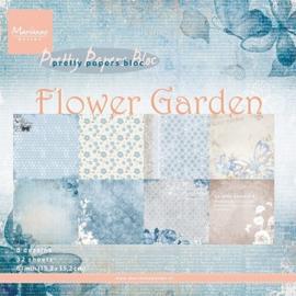 Marianne Design Paper pad Flower Garden 15.2 x 15.2 cm PK9112
