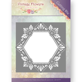 Jeanine's Art - JAD10031 - Vintage Flowers - Floral Hexagon