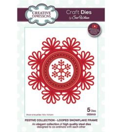 Creative Expressions CED3121 Looped Snowflake Frame