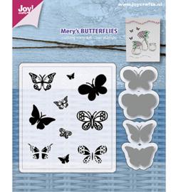 6004/0032 - Stencils & Stamps - Mery's Butterflies