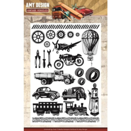 Amy Design - ADCS10014 clearstamps - Vintage Vehicles