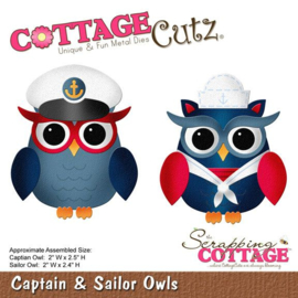 CottageCutz Captain & Sailor Owls (CC-109)