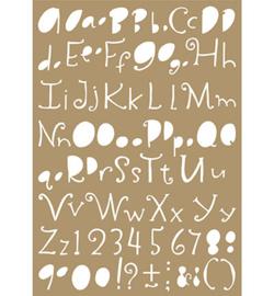 6002/0850 - Mask stencil - Lettering