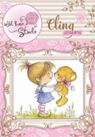 Wild Rose Studio Cling Stamp  CS329 Emily with Ted