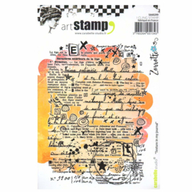 Carabelle Studio SA60299 Cling Stamp A6 By Zorrotte-Texture In My Journal