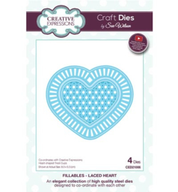 Creative Expressions CED21006 - Laced Heart