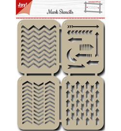 6002/0825 Mask Stencils Pijlen