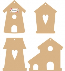 460.440.290 MDF Bird houses Set
