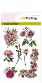 CraftEmotions 130501/1240 clearstamps A6 - Botanical Rose Garden  1 hoek