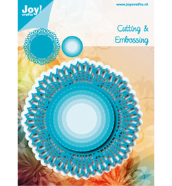 6002/1141 - Snij-embosstencil - Blauw Kantrand Cirkel