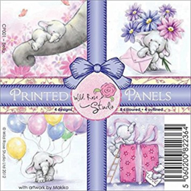 Wild Rose Studio Printed Panels, 4 by 4-Inch, Bella