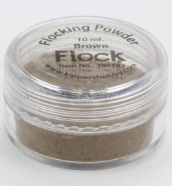 390182 Flock powder brown