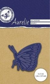 Aurelie snij & embossing stencil-Vlinder 1 AUCD1004