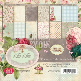 Craft & You Design paperpack-Tea time 6x6