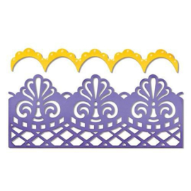 Sizzix 658945 Thinlits Die Set Damask & Scallop Borders