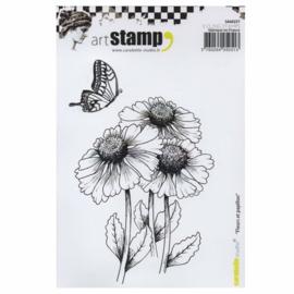 Carabelle Studio SA60257 A6 Stamp Fleurs et papillon