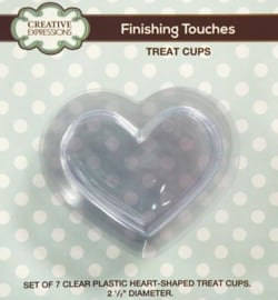 CETREATHEART - Heart Shaped Treat Cups - pk 7