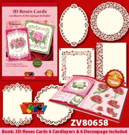 Doodey 3D-kaartenpakket rozen met boekje en oplegkaarten ZV80658