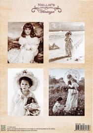 "A4 knipvel Nellie's Vintage NEVI-001 ""girl"""