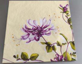Servet bloem 40x40cm voelt als linnen