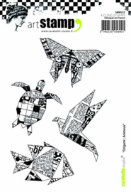 Carabelle Studio Cling Stamp A6-Origami: Animals