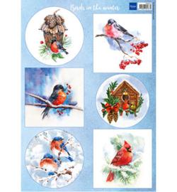 Marianne Design VK9572 - Birds in the snow