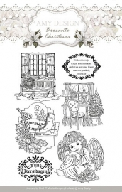 Amy Design -  ADCS10002  Clearstamp - Brocante Christmas
