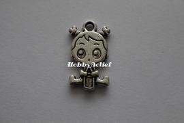 BabyGirl Tibetaans zilver 24mm
