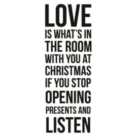 Kaisercraft CS135 Christmas Love 50x130mm clearstamp