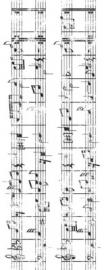Kaisercraft clear stamp sheet music CS757